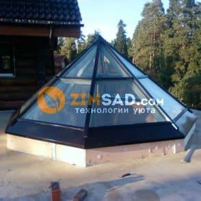 Алюминиевый купол после монтажа