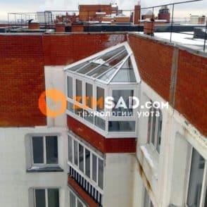 Балкон после монтажа алюминиевых конструкций