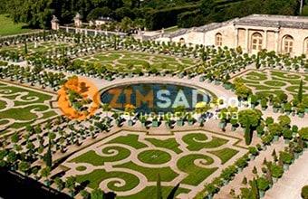 Версальские сады, вид сверху