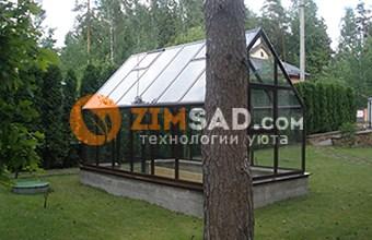 алюминиевая теплица из стекла