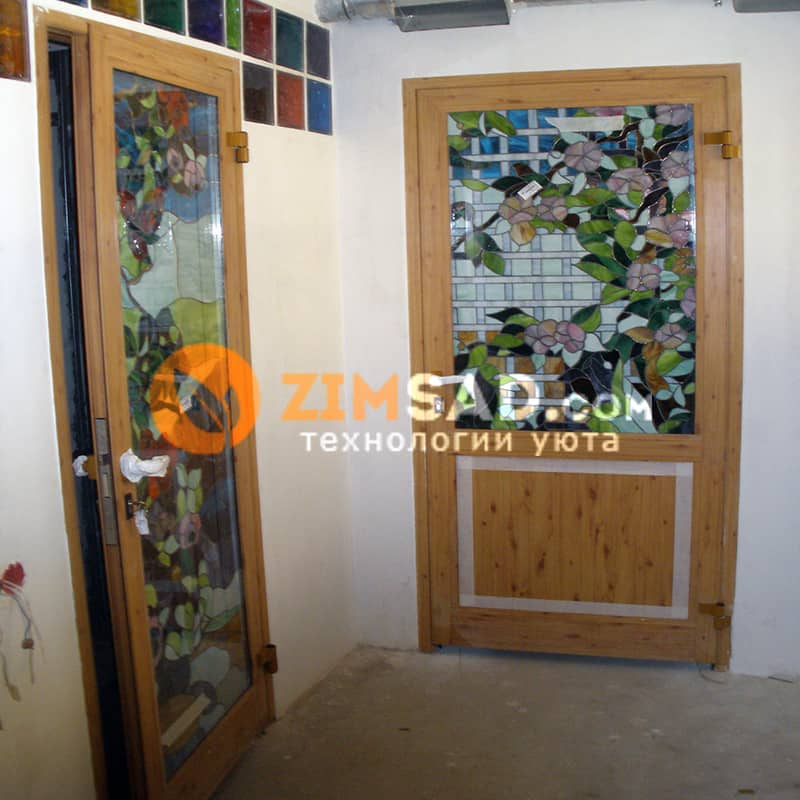 Алюминиевые двери в Турецкой бане